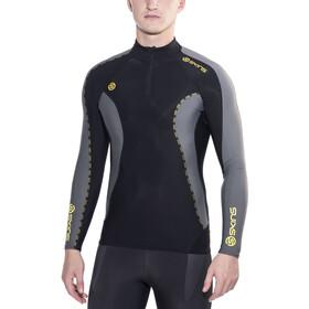 Skins DNAmic Thermal - Camiseta manga larga running Hombre - Mock Neck with Zip gris/negro